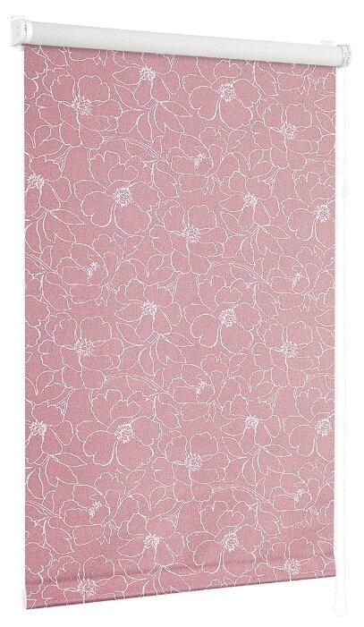 Купить Рулонная штора с направляющими струнами Sola Сантайм Металлик Камелия, розовый, 34 см по низкой цене с доставкой из Яндекс.Маркета (бывший Беру)