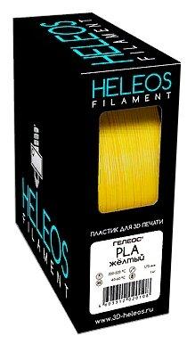 PLA пруток Heleos 1,75 мм желтый 1 кг фото 1