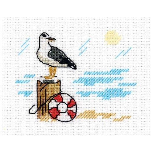 Klart Набор для вышивания Зарисовки. Чайка 10 х 8.5 см (8-386)