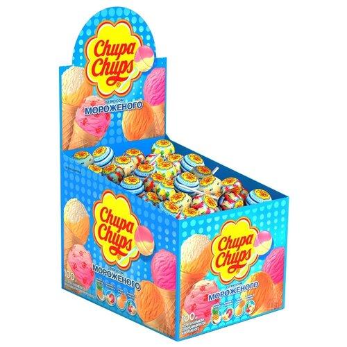 Карамель Chupa Chups Мороженое вкус ассорти, 100 шт.