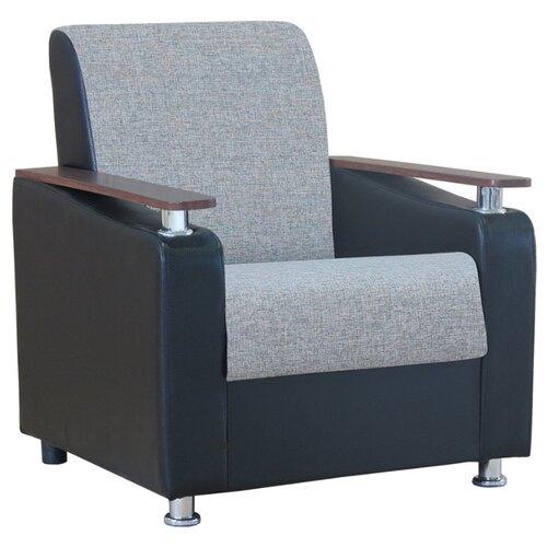 Классическое кресло Шарм-Дизайн Мелодия ДП №1 размер: 79х84 см, обивка: комбинированная, цвет: шенилл серый