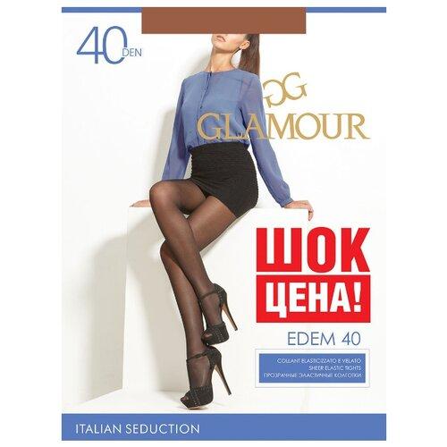 Колготки Glamour Edem 40 den, размер 3-M, miele (коричневый) колготки glamour prestige 40 miele