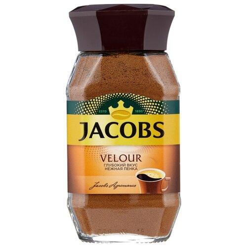 Кофе растворимый Jacobs Velour с пенкой, стеклянная банка, 95 г фото