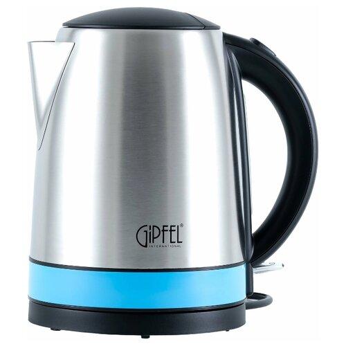 Чайник GIPFEL 2006, серебристый/голубой