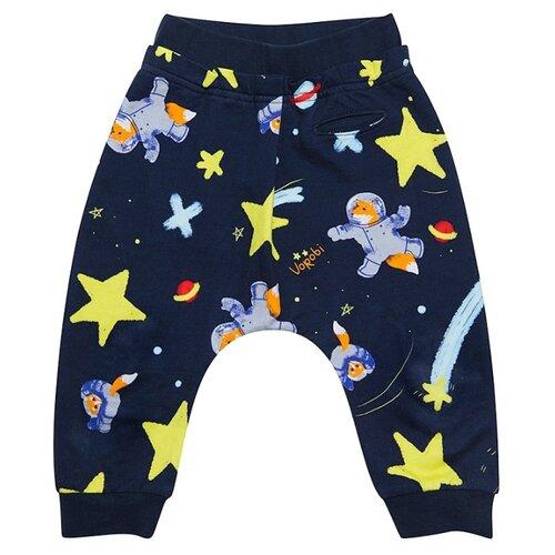 Купить Брюки Vorob'i Звездные лисы v17-12001 размер 92, синий, Брюки и шорты