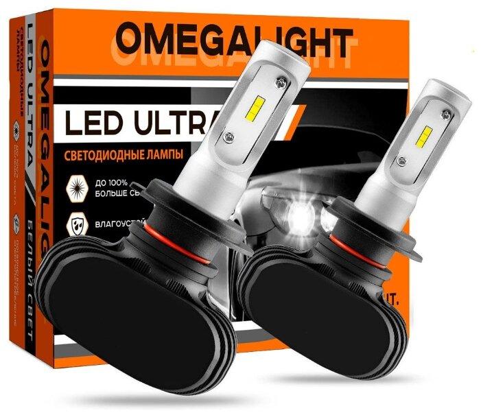 Лампа автомобильная светодиодная Omegalight Ultra OLLEDH11UL-2 H8/H9/H11 12V 25W 2 шт.