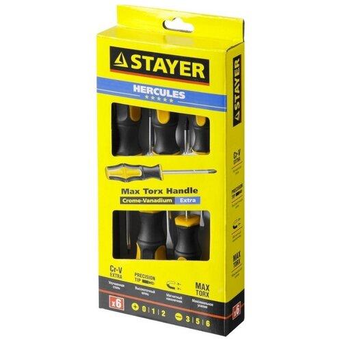 Фото - Набор отверток STAYER (6 предм.) 25055-H6_z02 черный/желтый набор отверток stayer master hercules 8 шт 25055 h8_z02