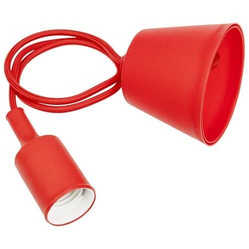 Силиконовый потолочный светильник-патрон Е27 REXANT, красный