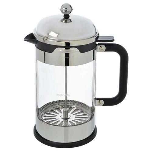 Френч-пресс Satoshi Kitchenware Ява (1.5 л) черный/стальной