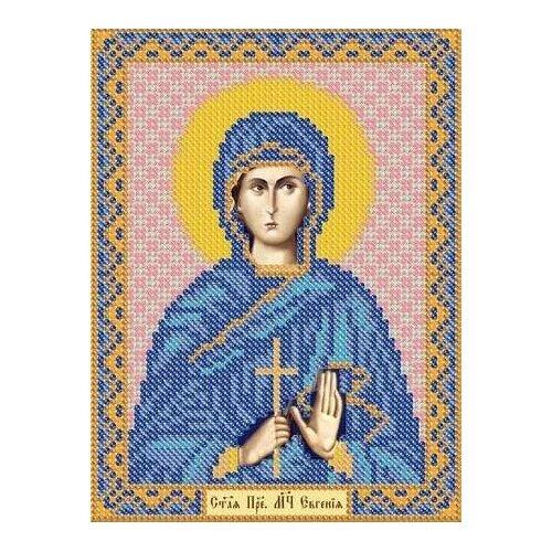 Купить Канва для вышивания с рисунком NOVA SLOBODA Св. Преподобномученица Евгения БИС-5116, многоцветный 13 х 17 см