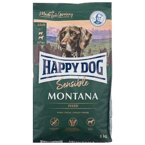 Фото - Сухой корм для собак Happy Dog Supreme Sensible Montana для здоровья кожи и шерсти, конина 1 кг сухой корм happy dog supreme sensible adult 11kg irland salmon