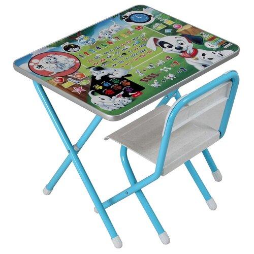 Купить Комплект ДЭМИ стол + стул 1 Далматинцы 60x45 см голубой, Парты и столы