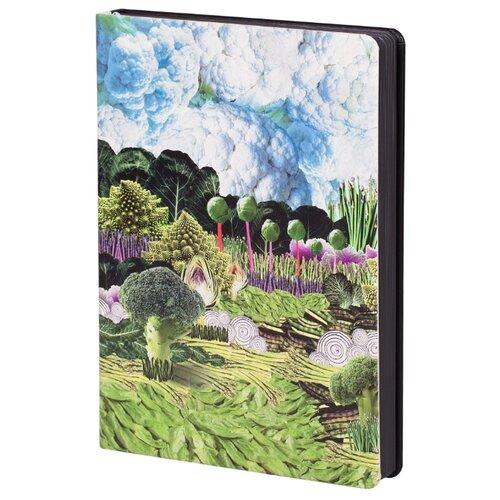 Ежедневник Принтэссенция Зеленая долина недатированный, искусственная кожа, черный
