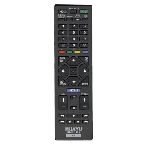 Пульт ДУ Huayu RM-L1185 для телевизоров Sony черный 2 пульт ду huayu rm 687c для телевизора sony kv m2551 черный