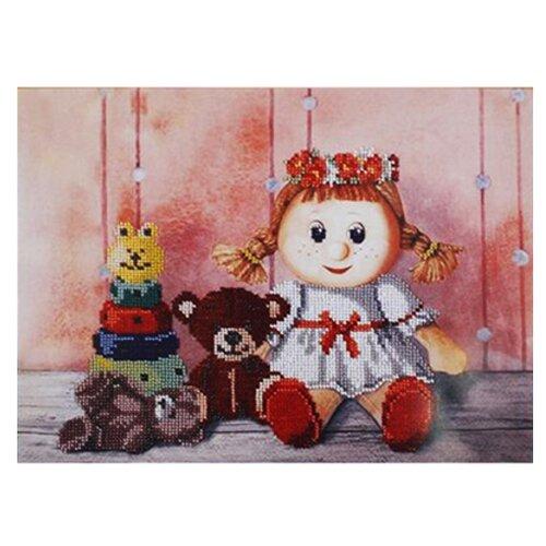 Купить Hobby & Pro Набор для вышивания бисером Игрушки для Алисы 33 х 30 см (БН-3123), Наборы для вышивания