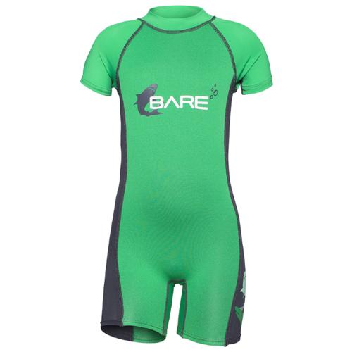 Детский гидрокостюм Bare Guppy Shorty р. 2, зеленый