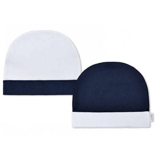 Купить Шапка LEO размер 40, синий/белый, Головные уборы
