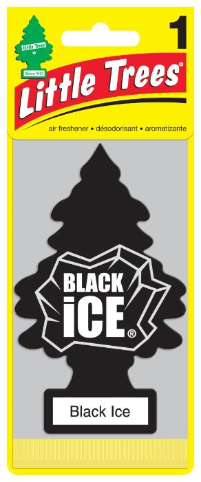 Ароматизатор в машину Car-Freshner Черный лед 10155