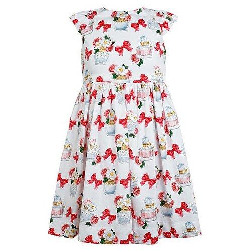Купить Платье Mayoral размер 110, белый/красный/розовый, Платья и сарафаны