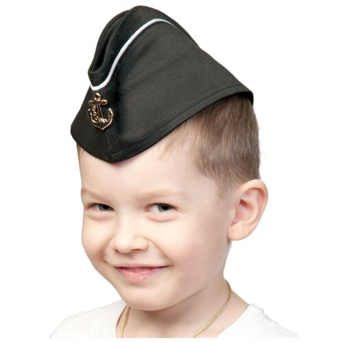 Головной убор КарнавалOFF Пилотка ВМФ с кантом (5250), черный