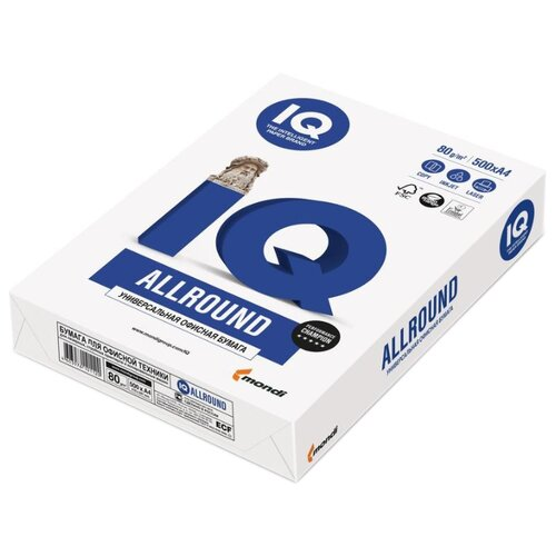 Фото - Бумага Mondi A4 IQ Allround 80 г/м² 500 лист. белый бумага iq color а4 color 120 г м2 250 лист оранжевый or43 1 шт