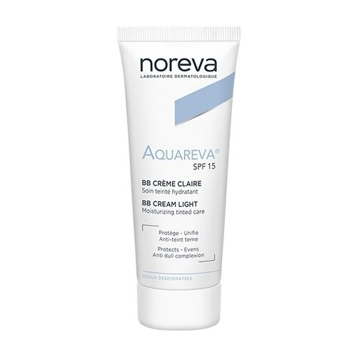 Noreva laboratories BB крем Aquareva, SPF 15, 40 мл, оттенок: light noreva laboratories bb крем для проблемной кожи exfoliac 30 мл оттенок light