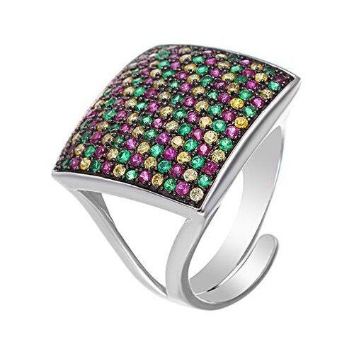 JV Кольцо с фианитами из серебра BE5244(R)-001-WG, размер 17 jv кольцо с фианитами из серебра r25193 r 001 wg размер 17
