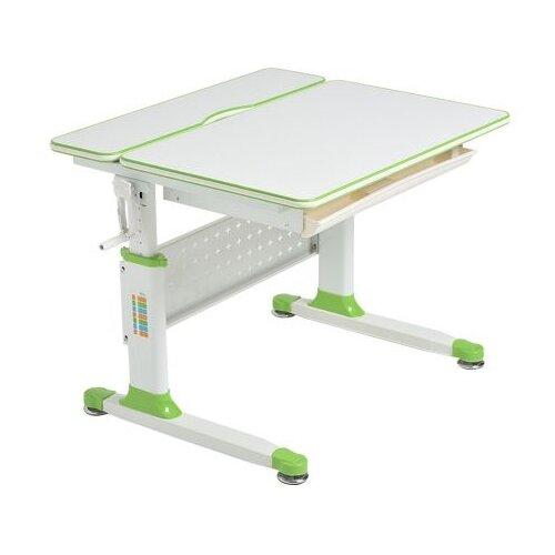 Стол RIFFORMA Comfort-80 80x70 см белый/зелный