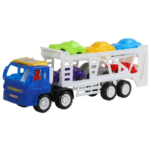 Набор машин Джамбо Тойз Автотрейлер (JB5300117) недорого