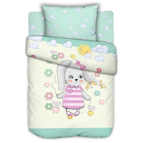 Текстильная лавка комплект в кроватку Зайка (3 предмета) голубой/белый скатерть текстильная лавка текстильная лавка mp002xu02k9s