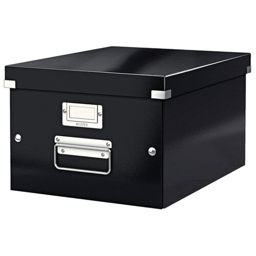Купить Leitz Короб архивный Click & store WOW M А4, ламинированный картон черный, Файлы и папки