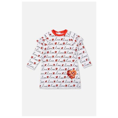 Платье playToday размер 80, серый/красный/черный платье oodji ultra цвет красный белый 14001071 13 46148 4512s размер xs 42 170