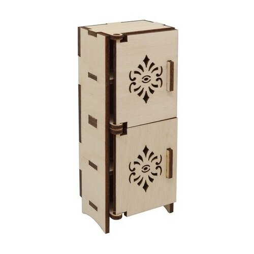 Купить Astra & Craft Деревянная заготовка для декорирования кукольная мебель Шкаф-пенал L-722 бежевый, Декоративные элементы и материалы