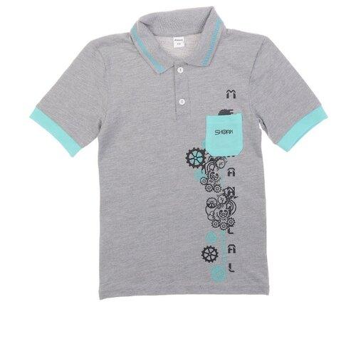 Купить Поло #Repost размер 164, серый меланж, Футболки и майки