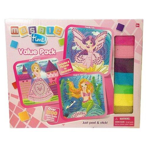 Купить Funnivation набор Мозаика для девочек 3 в 1 - принцесса, русалочка и фея (FM1405), Поделки и аппликации