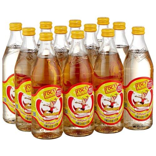 Газированный напиток Старые добрые традиции Лимонад оригинальный, 0.5 л, 12 шт. мингаз лимонад напиток 0 5 л