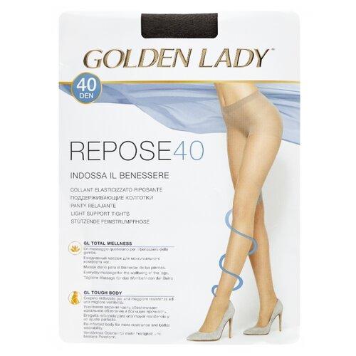 Колготки Golden Lady Repose 40 den, размер 5-XL, fumo (серый) колготки golden lady repose 40 den размер 5 xl natural бежевый