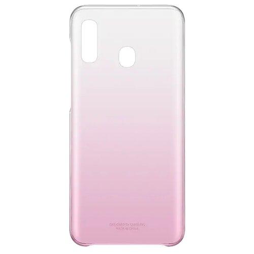 Чехол-накладка Samsung EF-AA205 для Galaxy A20 SM-A205F розовый аксессуар чехол накладка samsung galaxy sm e700 e7 activ silicone red mat 46703