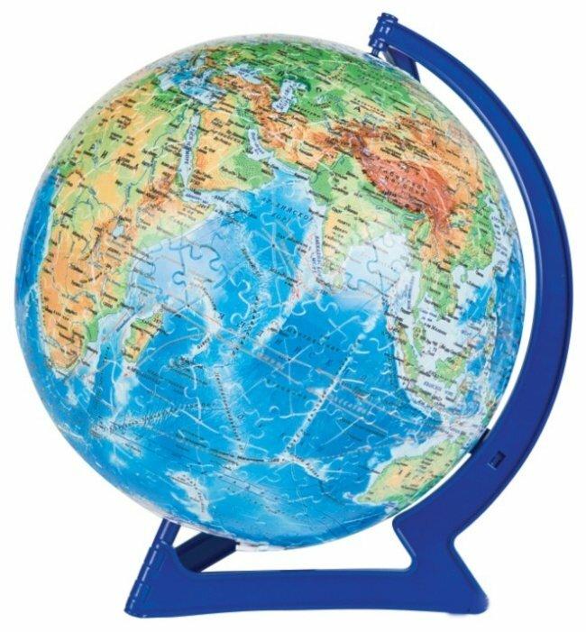 3D-пазл Step puzzle StepBall Физическая карта мира (98146), 540 дет.