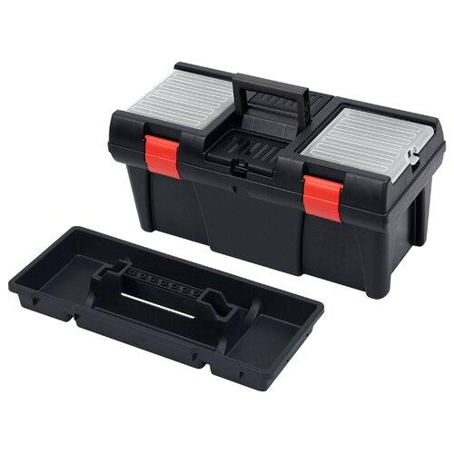 Ящик с органайзером Patrol STUFF Semi Profi 20 52.5x25.6x24.6 см черный/прозрачный/красный ящик с органайзером stanley jumbo 1 92 908 31 4x56 2x30 см желтый черный