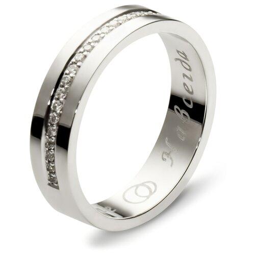 Эстет Кольцо с 30 бриллиантами из белого золота 01О620229, размер 19