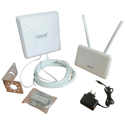Wi-Fi Mesh роутер UPVEL UR-736N4GF v2 + антенна UAN-WMDD13.v2 белый wi fi роутер huawei ws5200 v2 белый