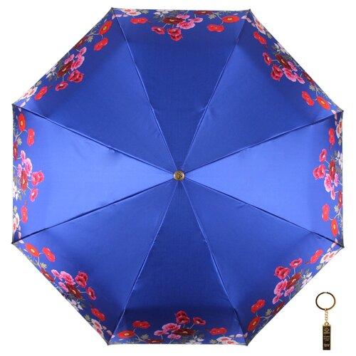Зонт автомат FLIORAJ Premium Волшебные цветы синий зонт складной flioraj flioraj fl976dwente7
