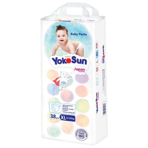 Фото - YokoSun трусики XL (12-20 кг) 38 шт. yokosun трусики xl 12 20 кг 76 шт игрушка для ванной котик йоко