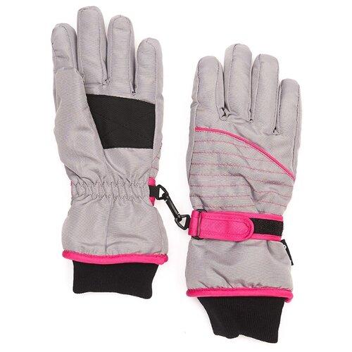 Перчатки Oldos Леоне AAW193T1AC04 размер 11-12, серый/розовый