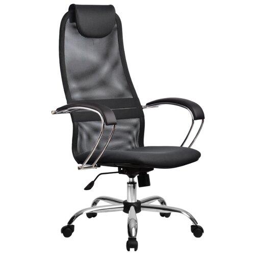 Компьютерное кресло Метта BK-8 Ch офисное, обивка: текстиль, цвет: 21-темно-серый компьютерное кресло метта bp 2 pl офисное обивка натуральная кожа цвет 721 черный