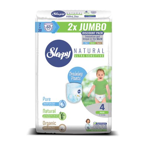 Купить Sleepy трусики Natural Ultra Sensitive 4 (7-14 кг) 60 шт., Подгузники