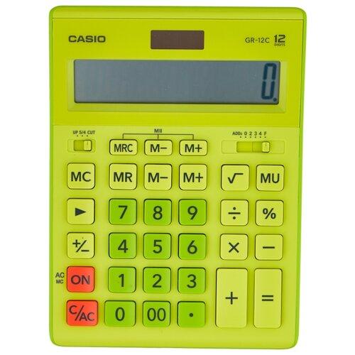 Калькулятор бухгалтерский CASIO GR-12С салатовый