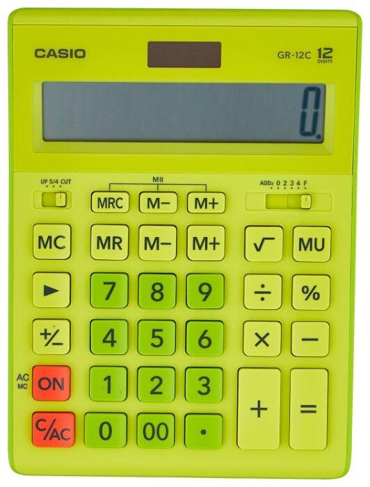 Калькулятор бухгалтерский CASIO GR-12 салатовый