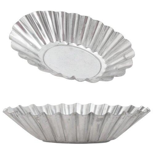 Форма для выпечки стальная Мультидом Лодочка DA8-154, 6 шт. (6х9.5х2.5 см)